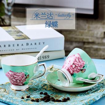 Jia Lan healthy bone china European ceramic coffee cup and saucer