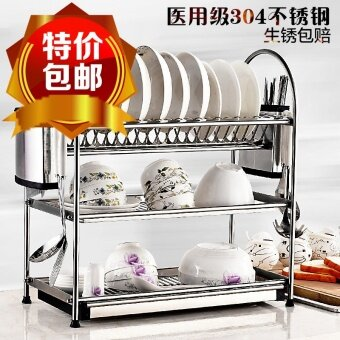 Harga Jiexite Double-layer Kitchen Rack