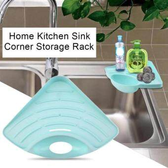 KCmall Portable Kitchen Sink Corner Storage Rack Sponge Holder WallMounted Tool - Blue