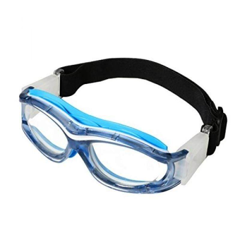 Kids Sports Goggles Outdoor Eye Protection Impact-resistant Glasses Eyewear with Adjustable Strap Removable Headband for Children Basketball Golf Rugby Soccer (blue)