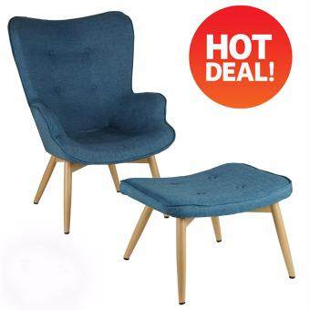 Kiefer Relax Wingback Chair with Leg Stool - 2