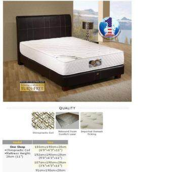 Harga King Koil One Sleep 11 Inches Semi-Firm Chiropractic Spring Queen Mattress (10 Years Warranty)