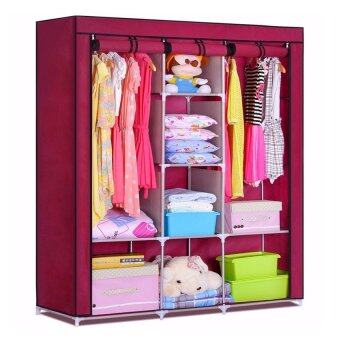 Harga King Size Multifunctional Wardrobe - Red