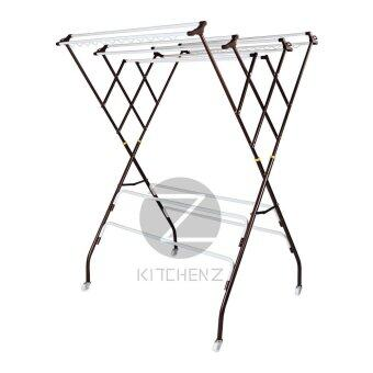 Kithchen Z Cloth Hanger Drying Rack RB640Y (10+4 Bars) Powder CoatAnti-Rust Paint by 3V - Copper Hammertone