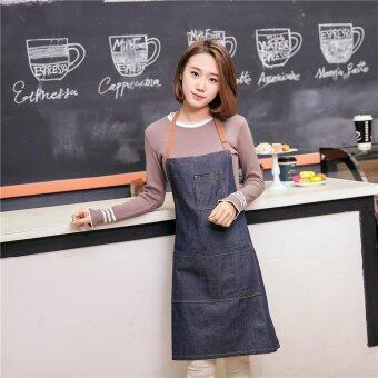 Korea Cooking Working Thinning Jeans Arpon Home Kitchen Coffe shopRestaurant Chef Safty Protective Apron
