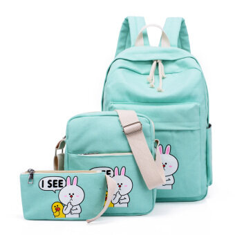 Korean-style canvas young student's junior high school students school bag