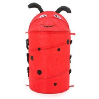 LadyBug Print  Pop-up Laundry Bag