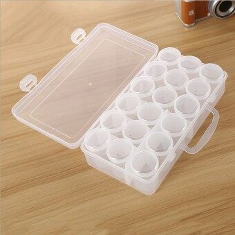 Harga Large sealed liquid powder bottle cylinder storage box bottles portable components box packaging box small kit