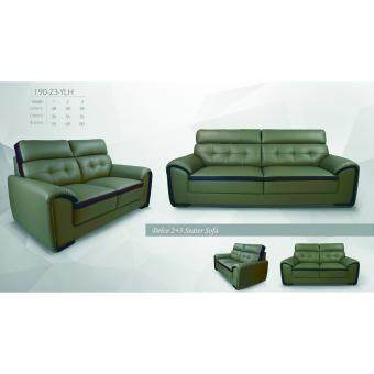 Lazio Delco 1 Seater Leather Sofa