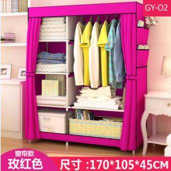 Le Huo Shi Guang GY-02 High Quality DIY Side Open Curtain and Water Resistance Modern Multifunctional Cloth Wardrobe