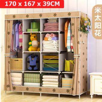 Le Huo Shi Guang GY-49 High Quality Side open Curtain Dust and Water Resistance DIY Modern Multifunctional Cloth Wardrobe (King Size)