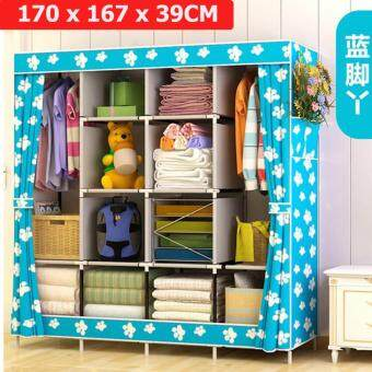 Le Huo Shi Guang GY-49 High Quality Side open Curtain King Size DIY Modern Multifunctional Cloth Wardrobe