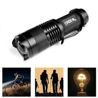 Harga LED Flashlight Waterproof CREE Q5 / XML T6 Aluminum lanternaZoomable Portable Torch lights For Camping Outdoor Night lighting