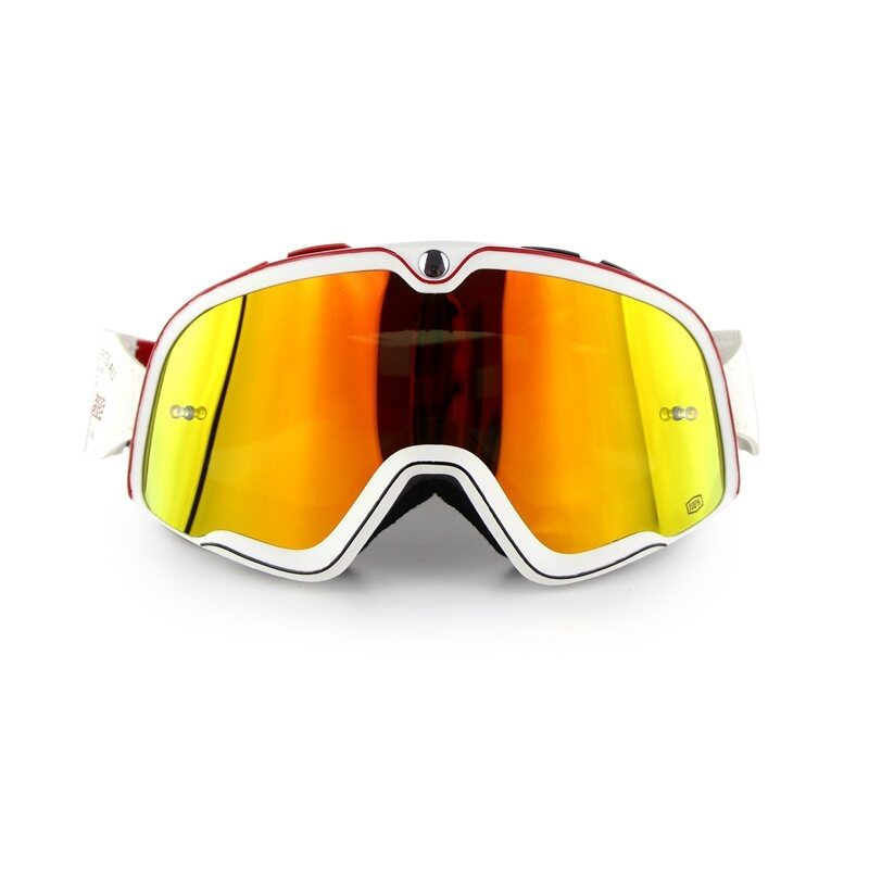 Leifen New high-grade retro goggles Orange lens outdoor motorcycle riding cross-country ski anti-fog goggles Harley-goggles suit anti-dust anti-sand anti-glare riding protective equipment