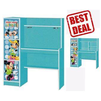 Little Mickey Mouse Kids Study Table Set with Bookshelves