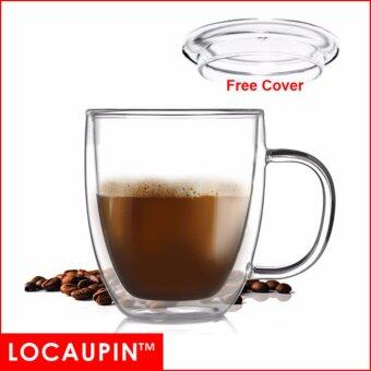 Harga LOCAUPIN Coffee Water Drink Double Layer Glass Cup 400mL
