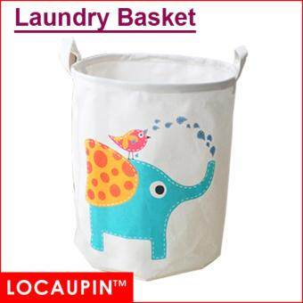 Harga Locaupin Cotton Linen Laundry Basket Washing Storage Basket