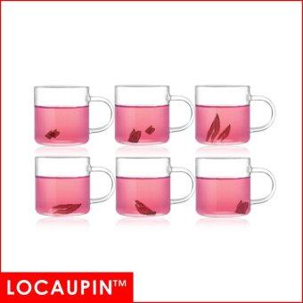 Harga LOCAUPIN High Borosilicate Glass Tea Cups with Handle (6pcs)