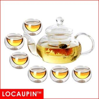 Harga LOCAUPIN High Borosilicate Glass Teapot + Tea Cups (SET A)