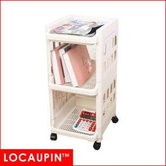 Locaupin Multi-Purpose Layer 3 Layer Home Storage Rack Kitchen Storage Rack office Rack Kitchen Shelf--Beige color(Cream)