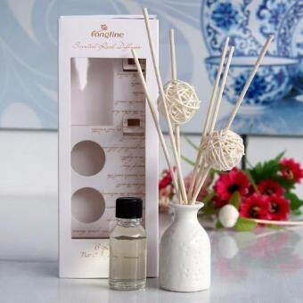 Harga Longfine Aroma Reed Diffuser with Ceramic Vase Fragrance Oil GiftPack (Sandalwood) Christmas Home Gifts