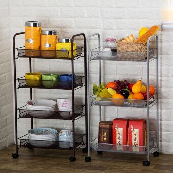 Love fun home vegetable rack fruit basket with wheels glove rackstorage rack can be mobile trolley car kitchen shelf - 2