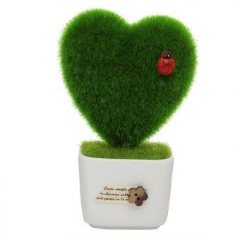 Harga Love Shape Pattern Design Gift I Love You Present Indoor Decor Shop Office Solid Love Shape Hedge In The Pot