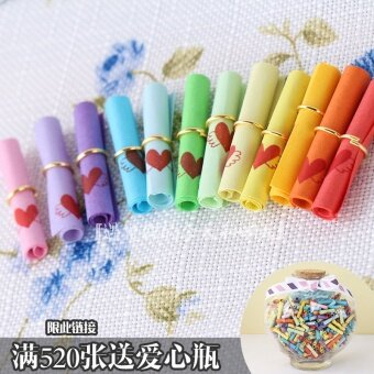 Harga Lucky Star bottle paper blessing love color wishing paper roll