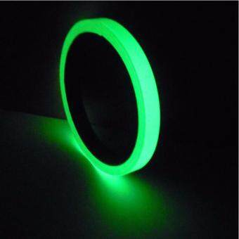 Harga Luminous Photoluminescent Tape Green Glow in the Dark Sticker Film for Warning Labels 1cm*10m