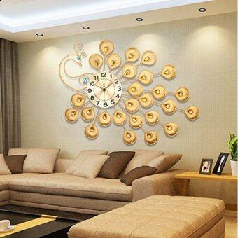 Luxury Peacock Living Room Wall Clock(Gold)