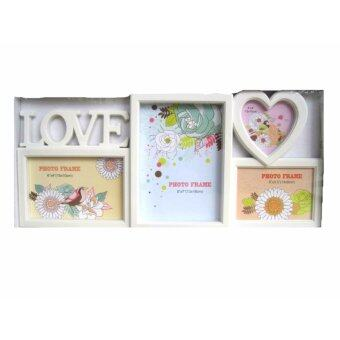 Harga M1610LO Love Photo Frame (3R, 4R & 5R) (4 in 1) (White)