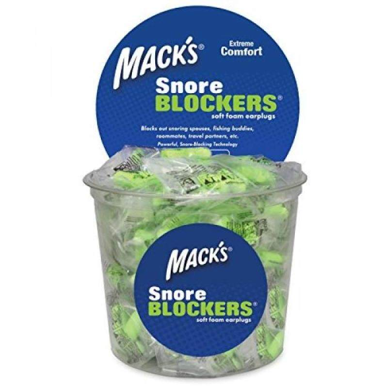 Buy Macks Snore BLOCKERS Soft Foam Earplugs - 100 Pair Tub - Comfortable, High 32 dB Noise Reduction Ear Plugs for Snoring Spouses, Fishing Buddies, Roommates and Travel Partners Malaysia