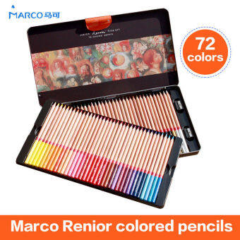 Marco 72 Wooden Colored Pencils Renoir Professional Artist DrawingSet Sketching