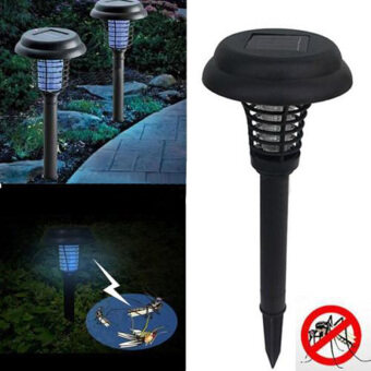 Marstec Outdoor UV LED Solar Powered Lawn Light Anti MosquitoInsect Pest Bug Zapper Killer Yard Garden Lawn Light Lamp
