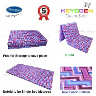 Harga Masterfoam High Density Foam with 5 Year Warranty Single Foldable Mattress