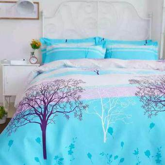 Maylee High Quality Cotton 3pcs Queen Fitted Bedding Set 450TC(Tree) - 2