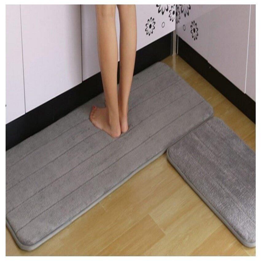Superior Melano 2pcs Set Anti Slip Kitchen Rugs Carpet Floor Mat (GREY) | Lazada  Malaysia