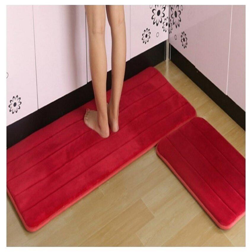 Melano 2pcs Set Anti Slip Kitchen Rugs Carpet Floor Mat (MAROON) | Lazada  Malaysia