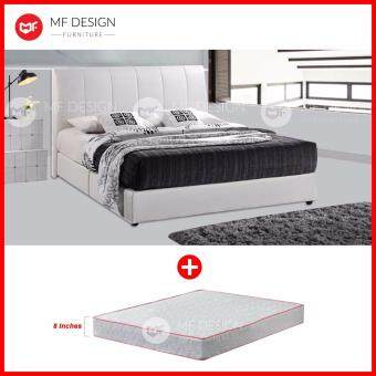 Harga MF DESIGN CINDERELLA Divan Bed Frame WITH 8 INCH DAMASK HIGH QUALITY QUEEN-SIZE SPRING MATTRESS