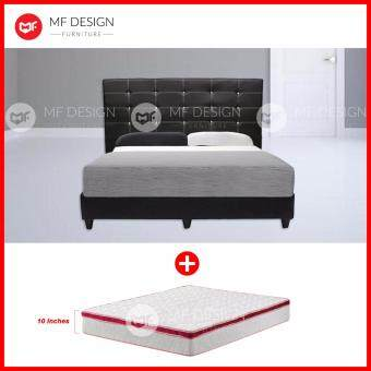 Harga MF DESIGN GRORIOUS DIVAN BED WITH 10 INCH DAMASK HIGH QUALITY QUEEN-SIZE SPRING MATTRESS