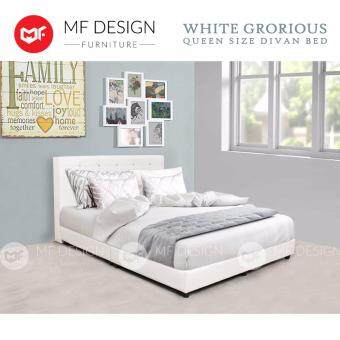 Sell mf design white grorious queen size divan bed frame for Divan bed frame size