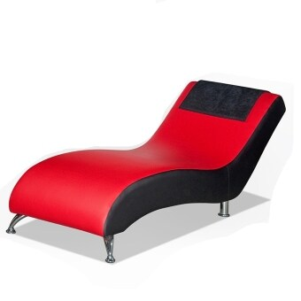 Miami Modern Relax Chair Chaise Long PU Red Black