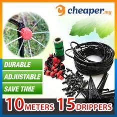 Buy Micro Drip Irrigation System Plant Self Watering Garden Hose Kits (5 meters) Malaysia