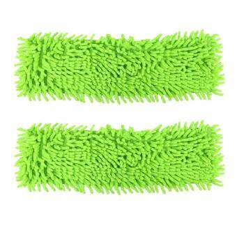 Microfiber Mop Pads 2-Pack Washable Commercial Replacement PadRefills for Hardwood Floor Use Wet or Dry (Chenille)