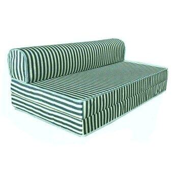 Harga Mimo Queen Mattress Sofa Bed 4 In 1 (Green Stripe)
