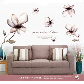 Mimosifolia 3D Flower Wall Sticker Decal Wallpaper PVC Mural ArtHouse Decoration Home Picture Wall Paper for Adult Kids 60X90