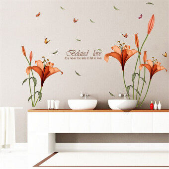 Mimosifolia 3D Flowers Bloom Wall Sticker Decal Wallpaper PVC Mural Art House Decoration Home Picture Wall Paper for Adult Kids 60X90