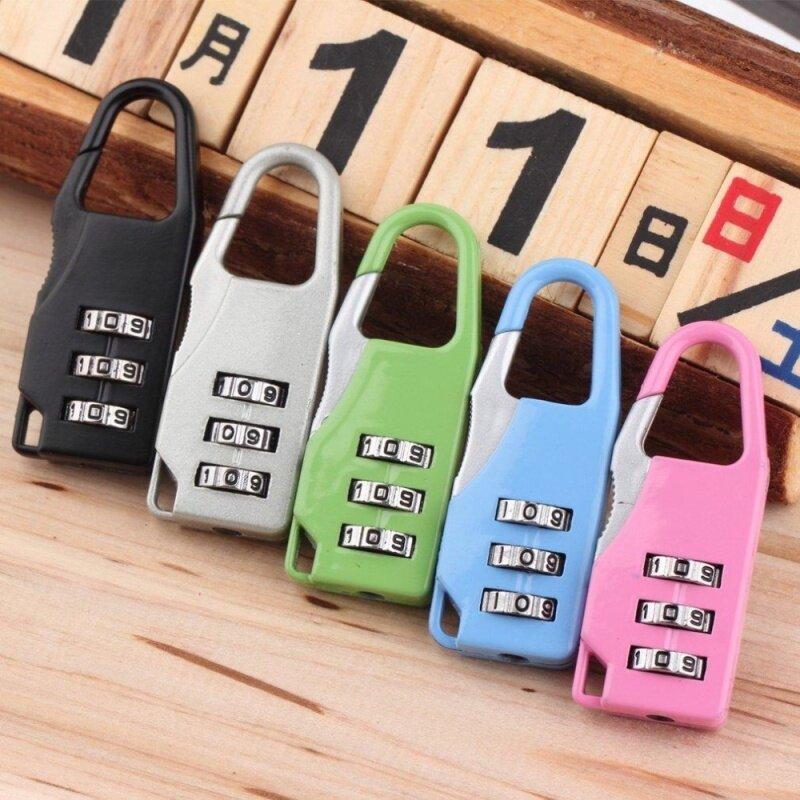 Mini 3 Digit Combination Security Safe Travel Suitcase Luggage Password Padlock