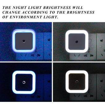 Mini Auto Night Lamp LED Light Built-in Light Sensor Control WhiteBedside Light Wall Lamp EU - 2