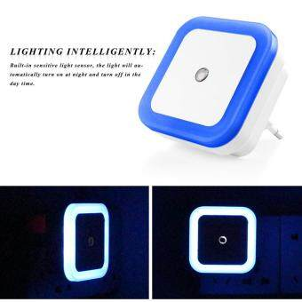 Mini Auto Night Lamp LED Light Built-in Light Sensor Control WhiteBedside Light Wall Lamp US